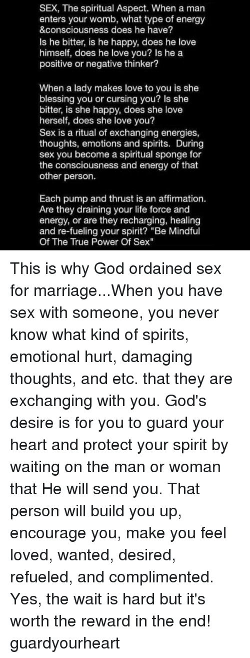 Spirit that come to sex you