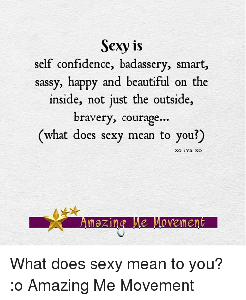 What does it mean to be sexy