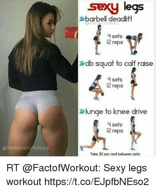 Deadlift for sexy legs