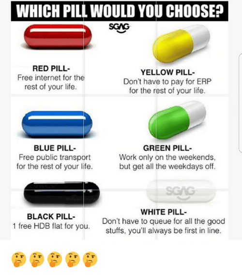sgag red pill free internet for the rest of your life yellow pill