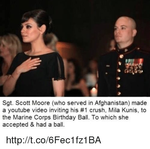 Memes Mila Kunis And Afghanistan Sgt Scott Moore Who Served In