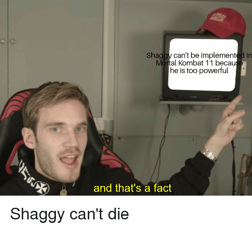 Shaggy Can't Be Implemented in Mortal Kombat 11 Becau He Is