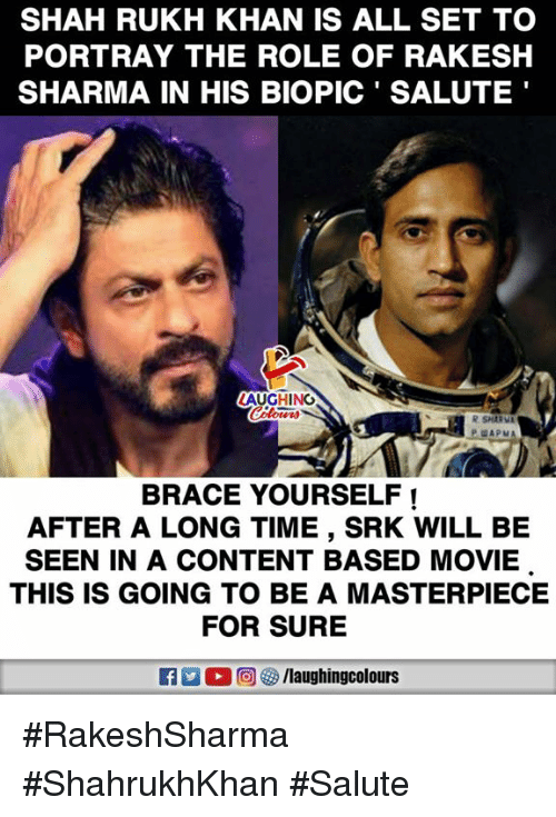 Movie, Time, and Content: SHAH RUKH KHAN IS ALL SET TO PORTRAY THE