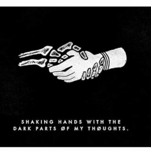 shaking hands with the dark parts of my thoughts meme on me me