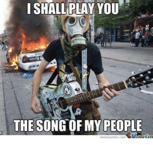 Let me play you the song of my people. [Bitter saxophone ...