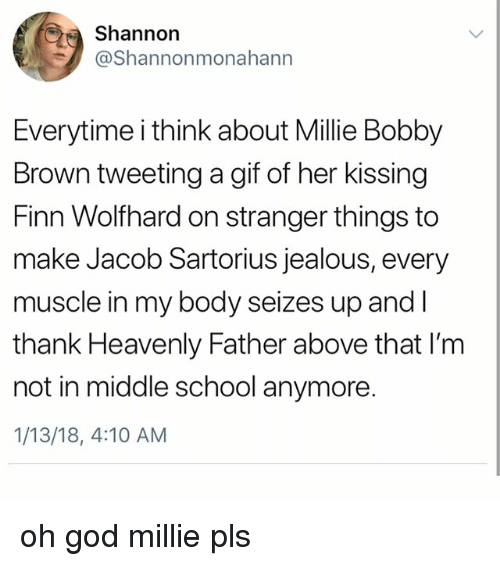 Finn Gif And God Shannorn Shannonmonahann Everytime I Think About Millie Bobby