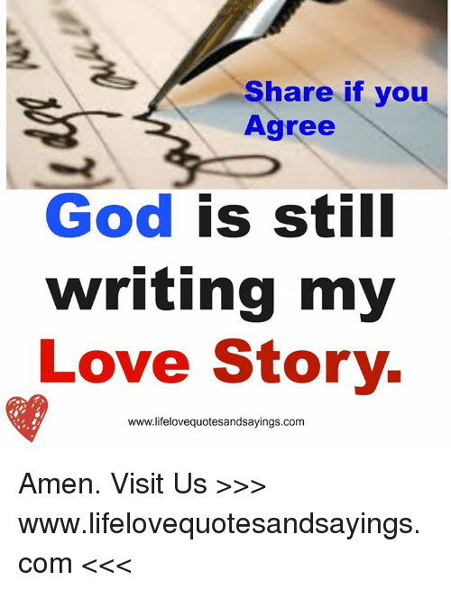 god is writing a love story