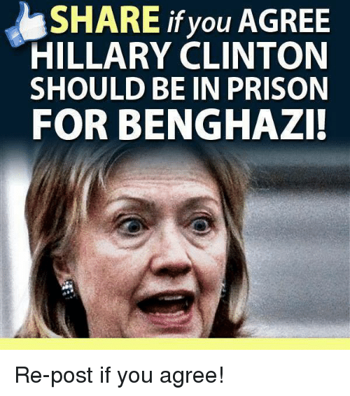 share if you agree hillary clinton should be in prison 7507835 share if you agree hillary clinton should be in prison for benghazi