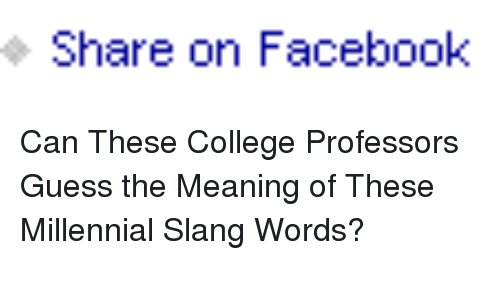 Share on Facebook <p>Can These College Professors Guess the