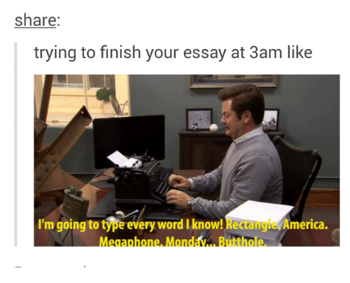 how to finish an essay