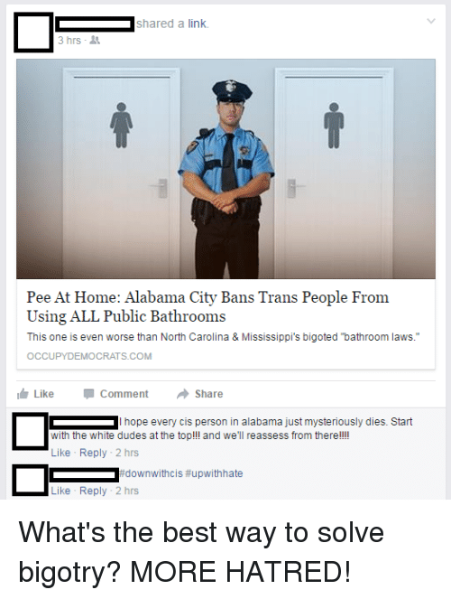 Dude, Tumblr, and Alabama: shared a link 3 hrs Pee At Home:
