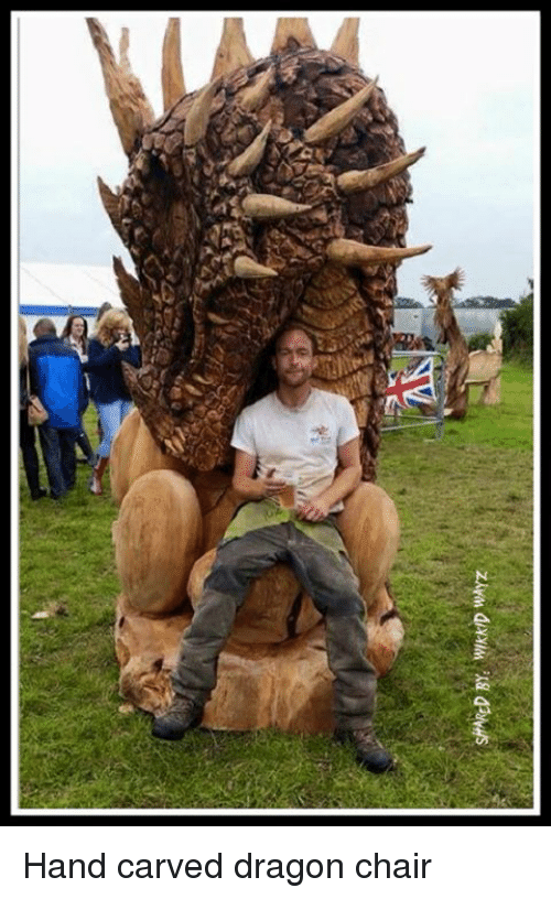 Memes, Wayz, And 🤖: ShARED BY: WkKD WAYz Hand Carved Dragon Chair