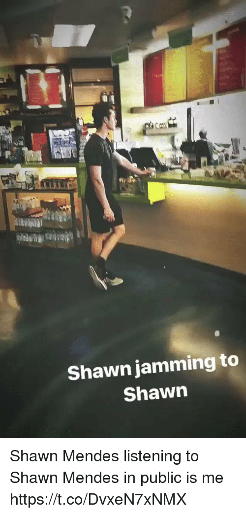me.me: Shawn jamming to  Shawn Shawn Mendes listening to Shawn Mendes in public is me https://t.co/DvxeN7xNMX