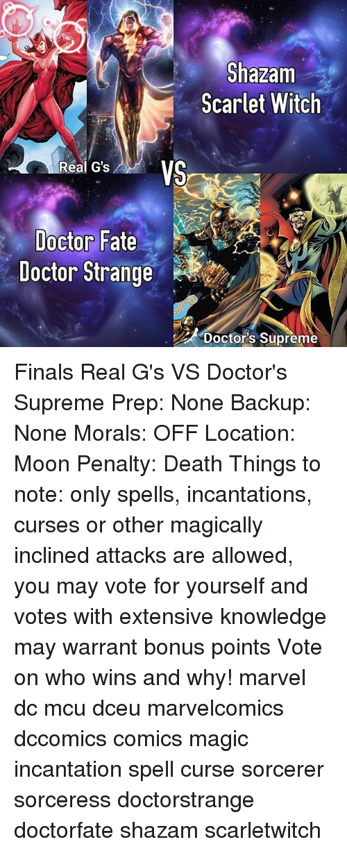 Shazam Scarlet Witch Real G's VS Doctor Fate Doctor Strange