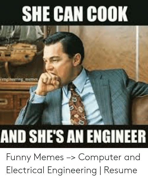 She Can Cook Engineering And She S An Engineer Funny Memes
