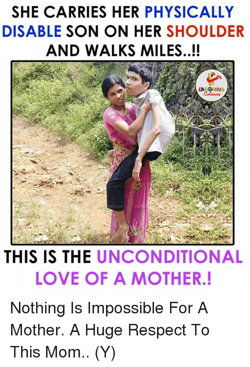 """the unconditional love of a mother for her children This passage uses the love of a mother as an example of unconditional love notice that it does not use the word """"father"""" or the gender-neutral term """"parent"""" fatherhood also involves unconditional love, but the image given here is a maternal one there is something special about a mother's love for her children, and it is."""