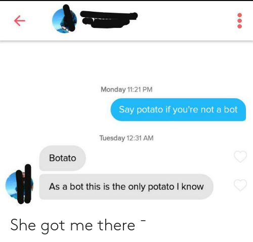 Got, She, and There: She got me there ¯