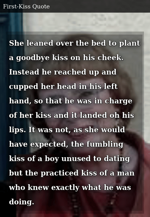 She Leaned Over the Bed to Plant a Goodbye Kiss on His Cheek Instead