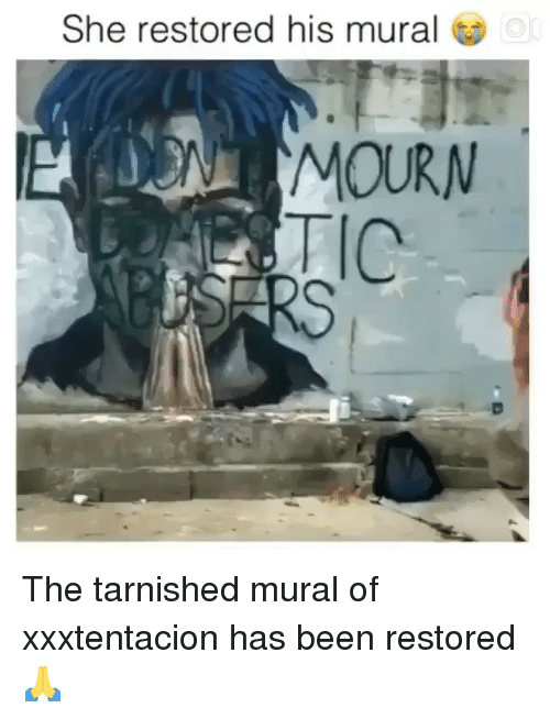 She Restored His Mural or MOURN the Tarnished Mural of