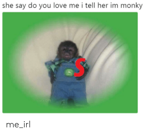 Love, Irl, and Me IRL: she say do you love me i tell her im monky me_irl