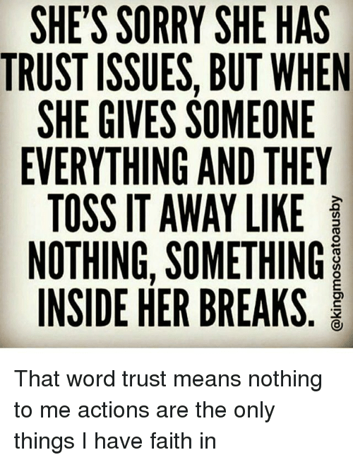 how to help someone with trust issues
