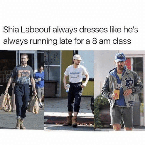 Running Late For Class Meme