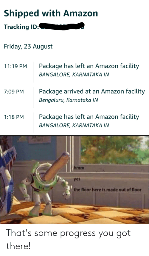 Shipped With Amazon Tracking ID Friday 23 August Package Has