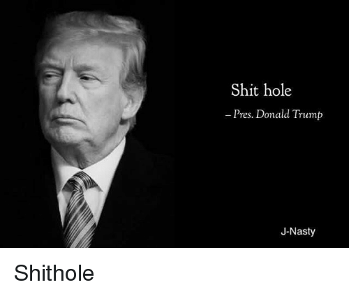 Donald Trump, Memes, and Nasty: Shit hole  Pres. Donald Trump  J-Nasty Shithole