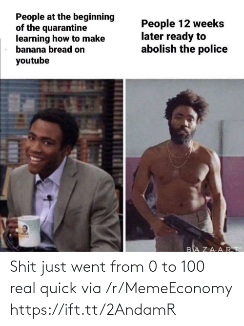 0 to 100, Via, and Real: Shit just went from 0 to 100 real quick via /r/MemeEconomy https://ift.tt/2AndamR