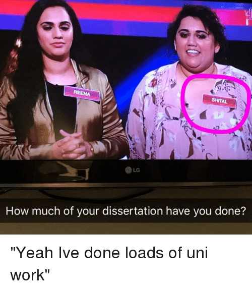 SHITAL REENA LG How Much of Your Dissertation Have You Done