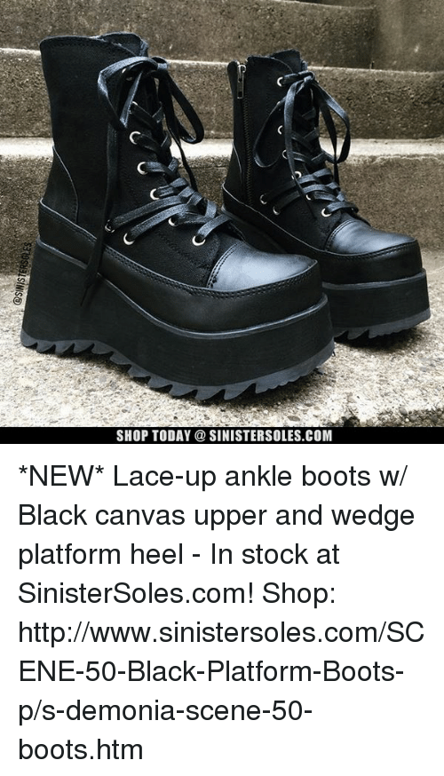 977e9f2c73 Memes, Black, and Boots: SHOP TODAY a SINISTERSOLES.COM *NEW*. *NEW* Lace-up  ankle ...