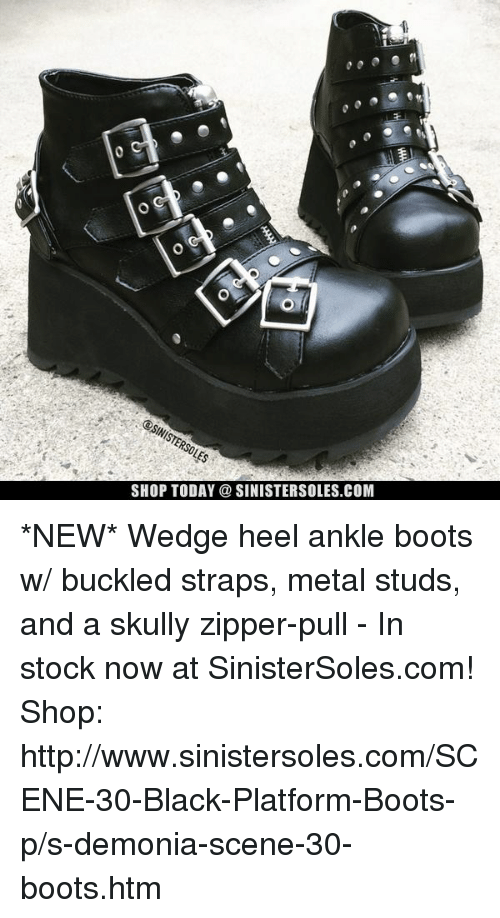 Shop Heel Boots Buckled sinistersolescomnewWedge Today Ankle W f7v6gIYby