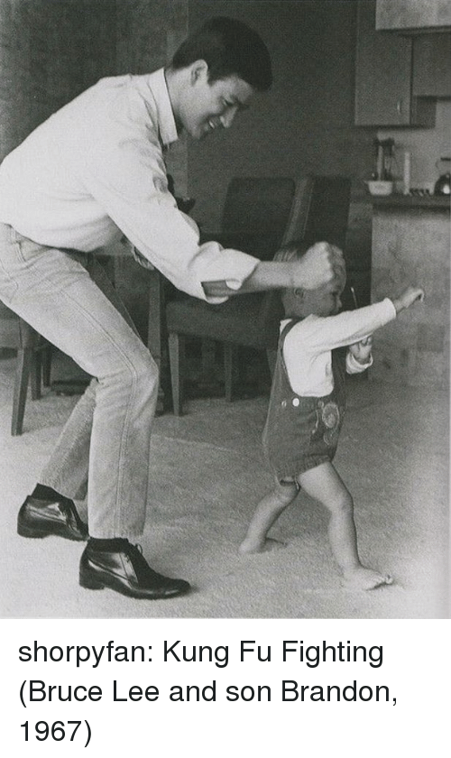 Tumblr, Blog, and Bruce Lee: shorpyfan:  Kung Fu Fighting (Bruce Lee and son Brandon, 1967)