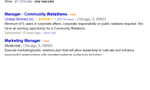 Chicago Community And Funny Show All 1818 Jobs Only New Manager