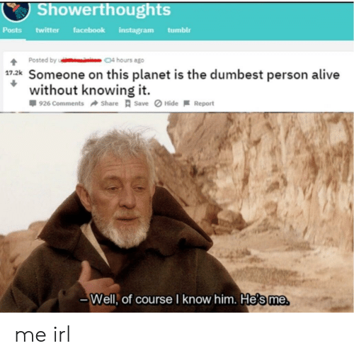Showerthoughts Facebook Instagram Posts Twitter Tumblr Posted by 04