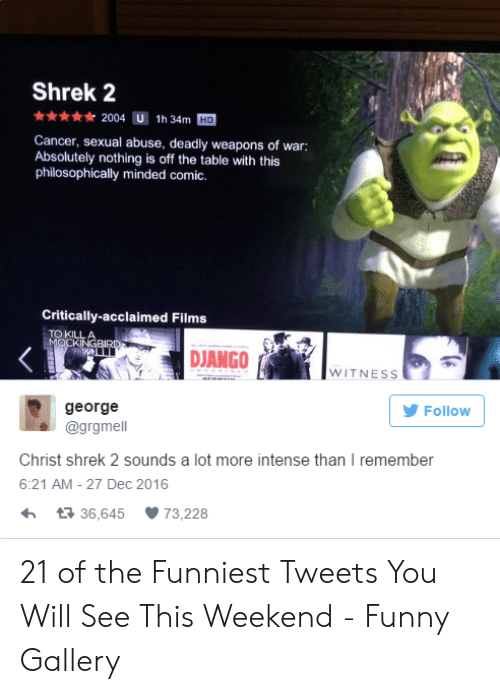Shrek 2 2004 U 1h 34m HD Cancer Sexual Abuse Deadly Weapons