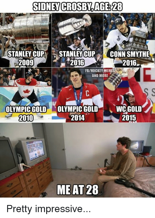 SIDNEY CROSBY%AGE 28 STANLEY CUP STANLEY CUP CONN SMYTHE 2009 2016
