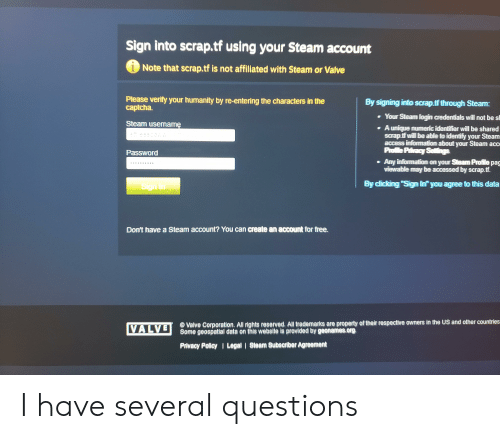 Sign Into Scraptf Using Your Steam Account iNote That