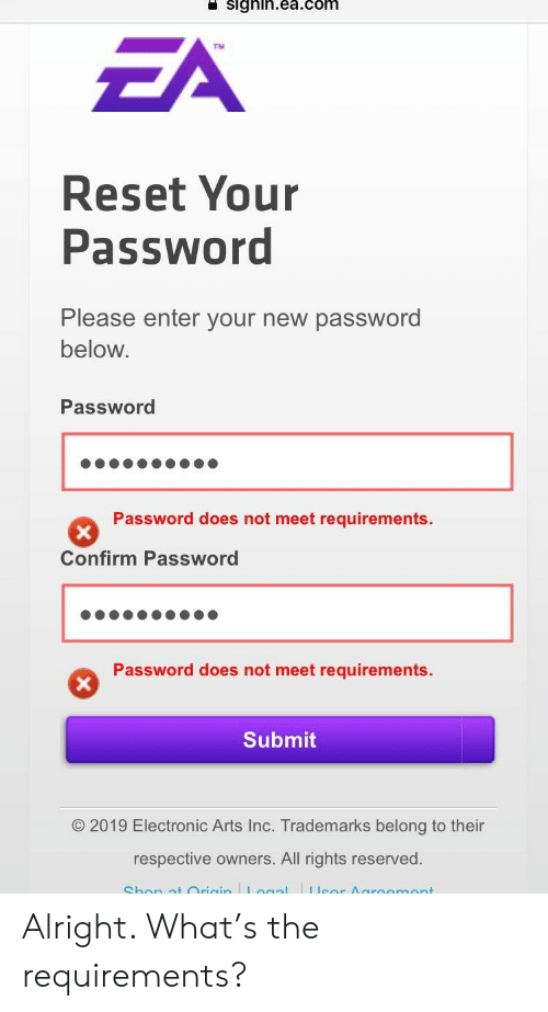 SIgnineacom ZA Reset Your Password Please Enter Your New