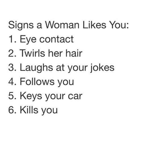 What are the signs of someone liking you
