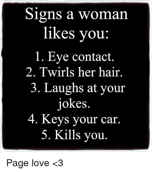 Signs Of Woman Likes You