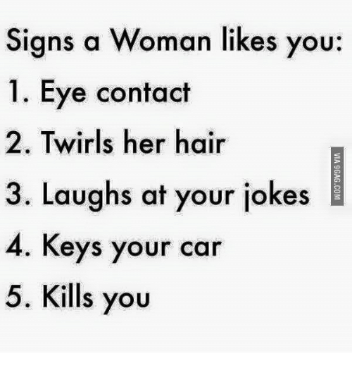 Signs a woman fancies you