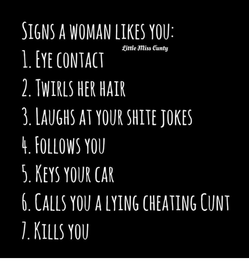 Signals a woman likes you
