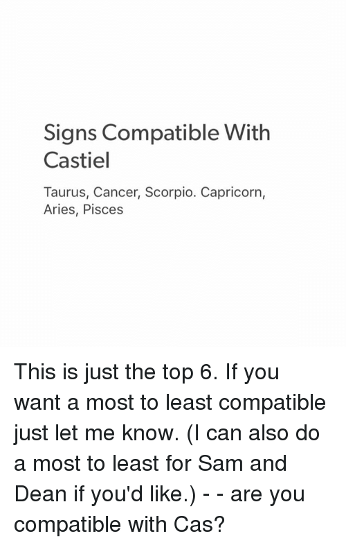 What is compatible with a scorpio