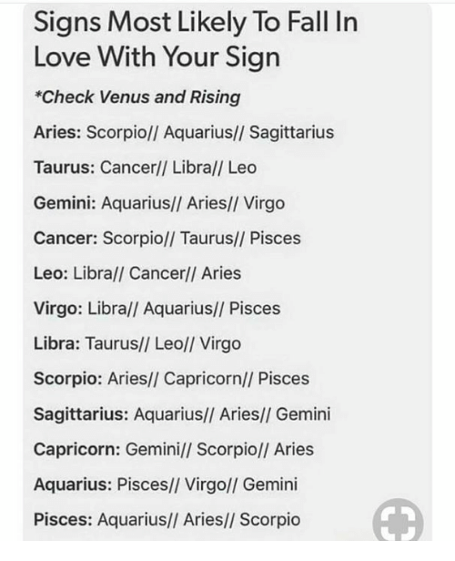 Signs Most Likely to Fall in Love With Your Sign *Check Venus and