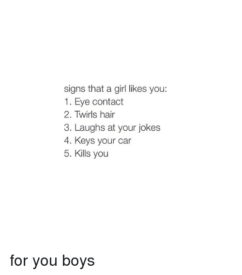 signs a girl likes you