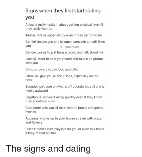 What to do when first start dating