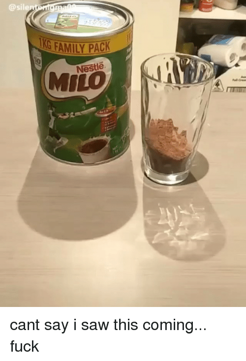 Family, Memes, and Saw: @sile  G FAMILY PACK  Nestle  MILO cant say i saw this coming... fuck