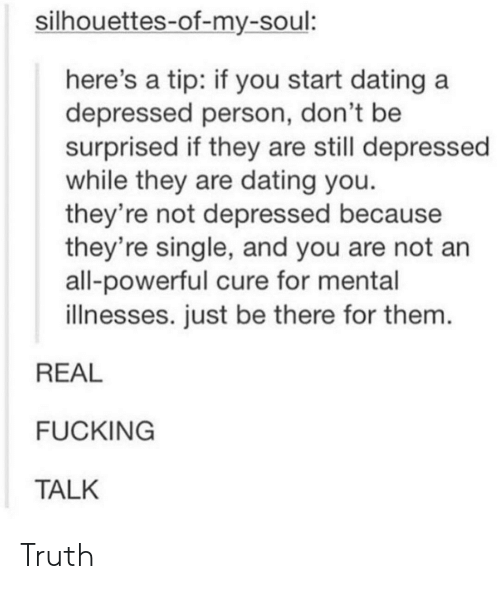 dating someone with depression tumblr