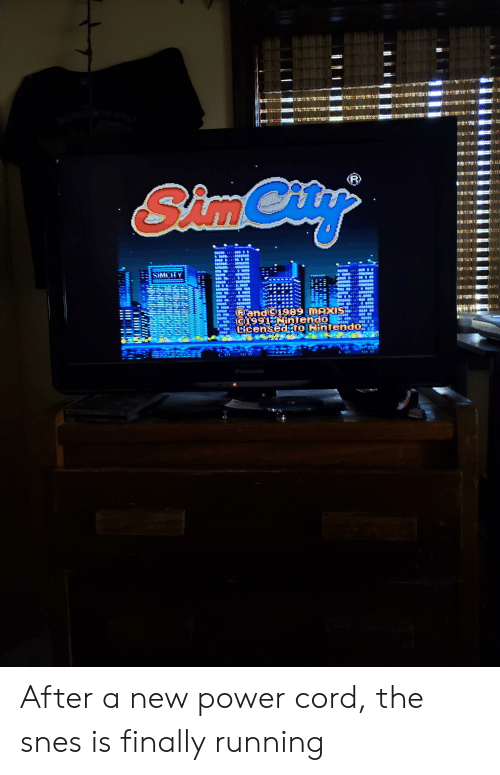 SimCity 182 After a New Power Cord the Snes Is Finally
